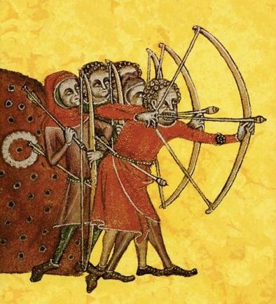 Geoffrey luttrell psalter 1325 longbowmen